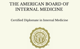 The American Board of Internal Medicine Certified Diplomate in Internal Medicine