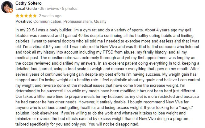 Weight Loss Gilbert AZ New Viva MD Patient Testimonial